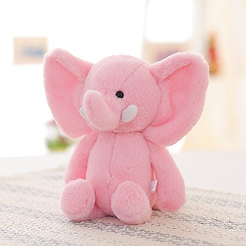 Lanlan 1PCS Soft Cute Cartoon Stuffed Animals Toy Plush Toy for Kids Birthday Christmas Gift Pink Elephant 10 Inch Plush Interactive Toys Accessories