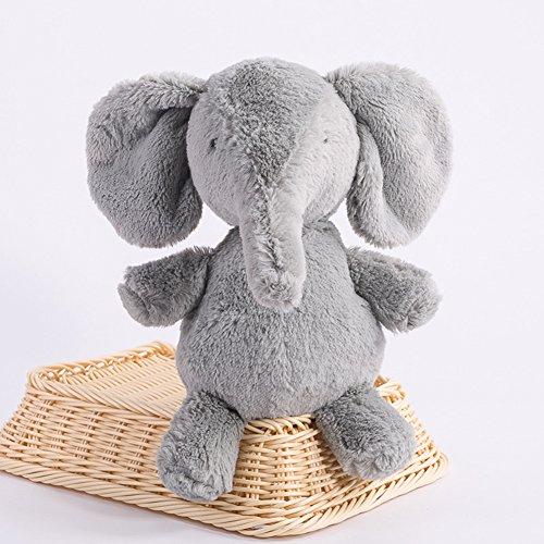 Lanlan Soft Stuffed Animal Toy Plush Toy for Kids Birthday Christmas Gift Grey Elephant 10 Inch Pocket Toys