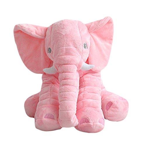 Vivay Baby Stuffed Elephant Plush Pillow Super Soft Baby Toys Sleeping Pillow - Multi-Color2 Size L60cm Pink