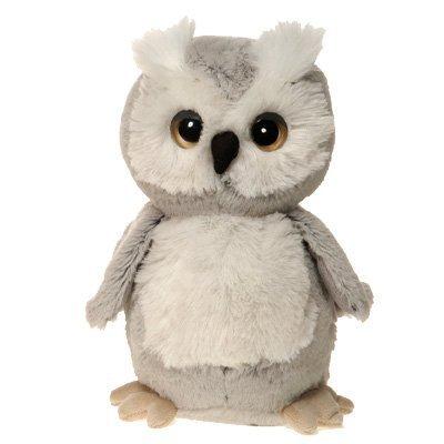 Gray Owl Plush Stuffed Bird Toy by Fiesta Toys - 7