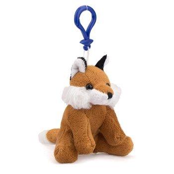 Fox Plush Red Fox Stuffed Animal Backpack Clip Toy Keychain WildLife