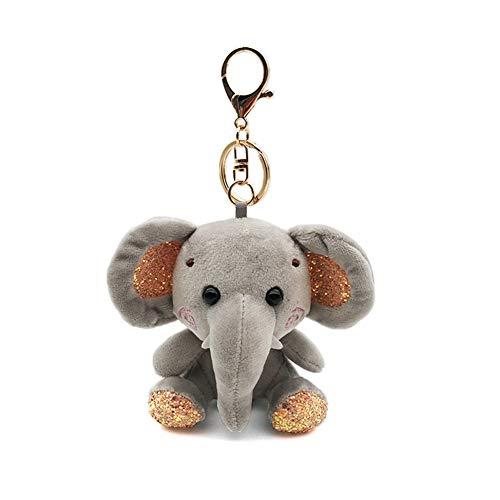 Yinpinxinmao Elephant Plush Elephant Stuffed Animal Backpack Clip Toy Keychain Hanger Mini Elephant Plush Stuffed Doll Pendant Keychain Grey