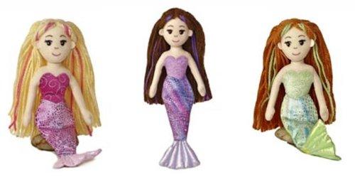 3 X 10 Mermaid Plush Doll Set Marinna Merrisa and Meriel