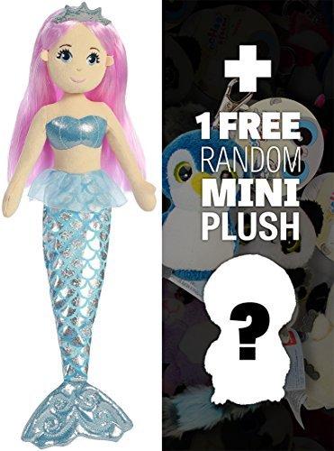 Crystal ~18 Sea Sparkles - Sea Shimmers Mermaid Plush Doll Series  1 FREE Aurora Mini-Plush Charm Bundle 330856 by Sea Sparkles Mermaid