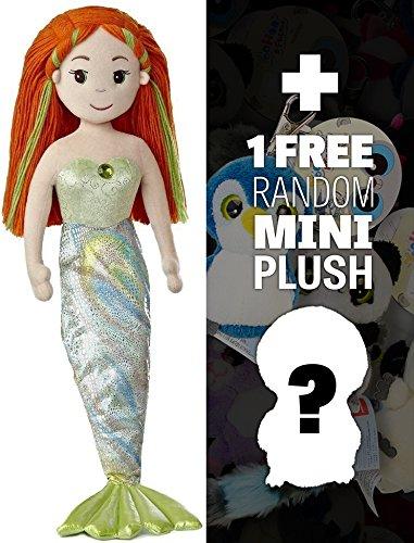 Meriel ~27 Plush Sea Sparkles Mermaid Plush Doll Series  1 FREE Aurora Mini-Plush Charm Bundle 330542