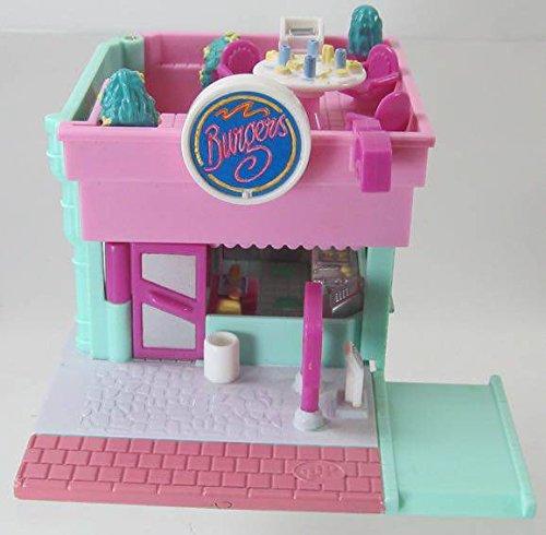 1994 Vintage Polly Pocket Complete Drive-thru Burger Restaurant Bluebird Toys