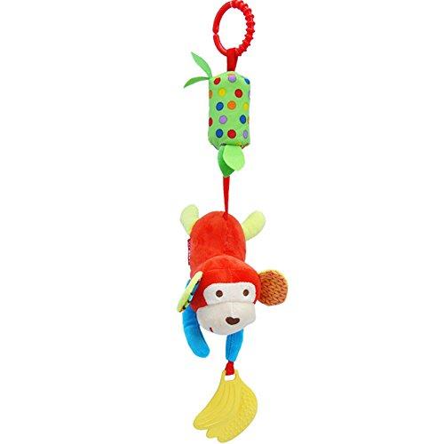 JTENGYAO Cartoon Stuffed Animal Baby Soft Plush Hand Rattle Toys Infant DollsMonkey