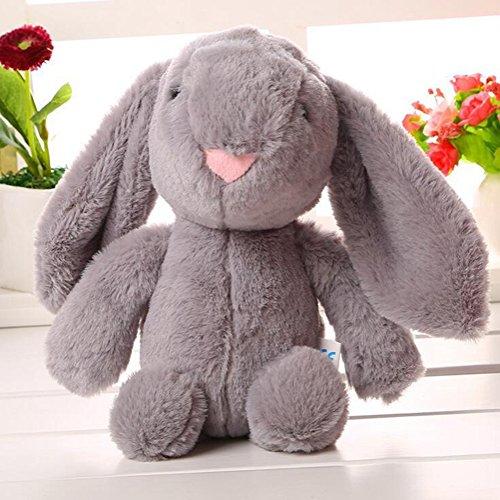 Lanlan 1PCS Soft Cute Cartoon Stuffed Animals Toy Plush Toy for Kids Birthday Christmas Gift Grey Rabbit 10 Inch