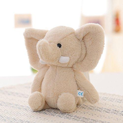 Lanlan 1PCS Soft Cute Cartoon Stuffed Animals Toy Plush Toy for Kids Birthday Christmas Gift Light Brown Elephant 10 Inch Plush Interactive Toys Accessories