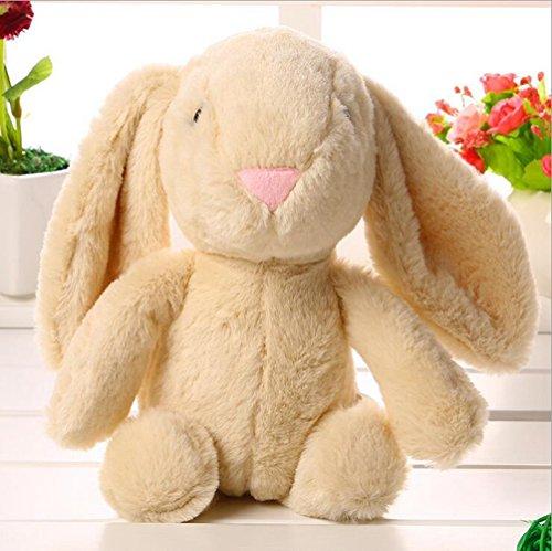 Lanlan 1PCS Soft Cute Cartoon Stuffed Animals Toy Plush Toy for Kids Birthday Christmas Gift Light Brown Rabbit 10 Inch