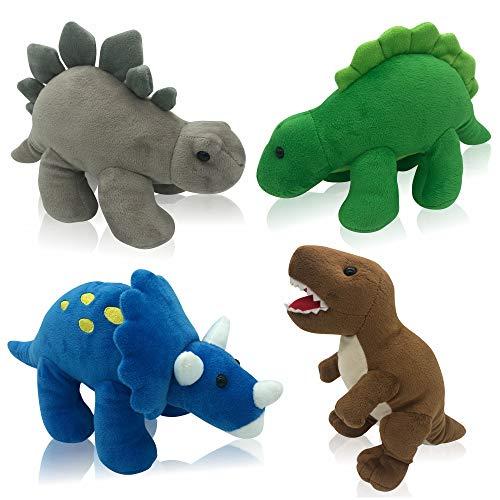 Plush Dinosaurs 4 Pack 10 Long Great Gift for Kids Stuffed Animal Assortment Great Set for Kids