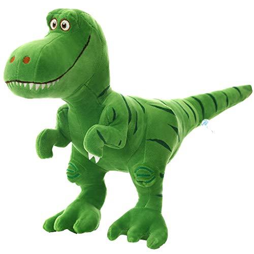 Stuffed Dinosaur Animal Plush Toy for Girls Boys - Cute Soft Plush T-Rex Tyrannosaurus Dinosaur Figure - Green  Gray