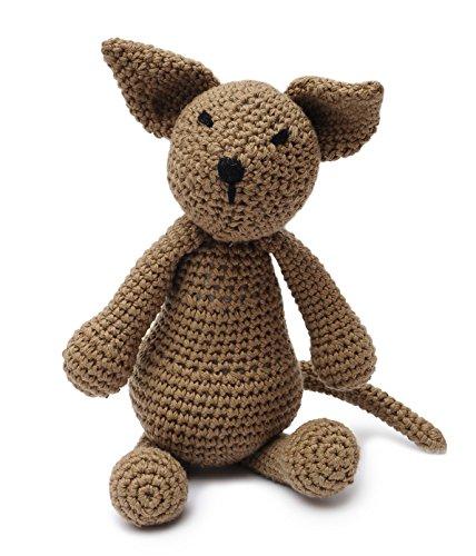 Brown Fox Handmade Amigurumi Stuffed Toy Knit Crochet Doll VAC