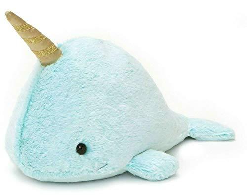 FidgetGear Narwhal Stuffed Animal Plush Blue 12 Large Licensed Soft Toy Show One Size