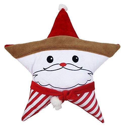 Cute Star Pillow Santa Claus Snowman Stuffed Toys Emoji Plush Toys Kids Toys Santa Claus