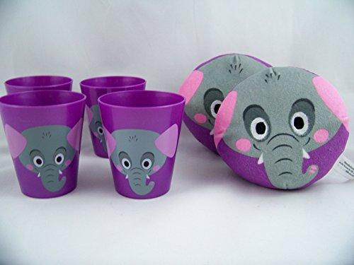Purple Elephant Plush Ball Pillows and Tumblers Jungle Animal Toys