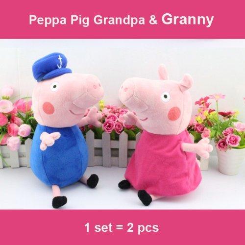 DH LLC Peppa Pig Plush Toy Grandma And Grandpa 2Pcs Set 30cm12 Size