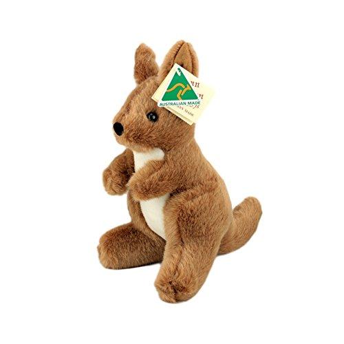 Australian Made Kangaroo Stuffed Animal Plush Toy Medium Brown
