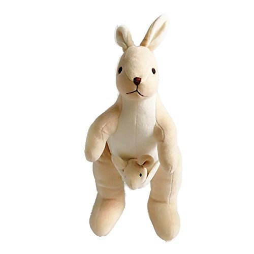 Lovely Stuffed Animals Toy Cute Kangaroo Plush Toy Soft Animal Organic Cotton Baby Kids Adults ToysGreat Gift for Boys ang Girls