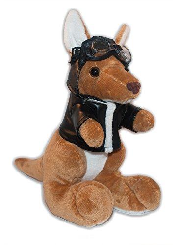 Soft Plush Toy Kangaroo Pilot 7  18 cm