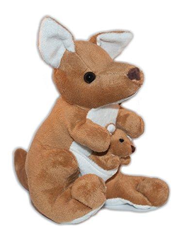 Soft Plush Toy Kangaroo with Joey 85  21 cm