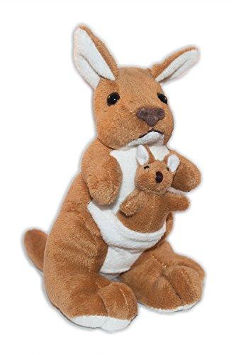 Stuffed Soft Plush Toy Kangaroo with Joey 17 cm