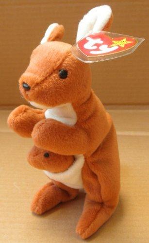 TY Beanie Babies Pouch the Kangaroo Plush Toy Stuffed Animal