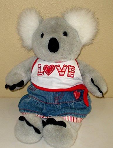 Build a Bear Koala Bear Plush in Love Shirt and Jeans Skirt - 15 Inches