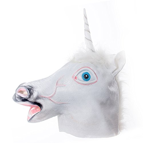 Unicorn Horse Head Mask IC ICLOVER Novelty Halloween Animal Cosplay Mask Prop