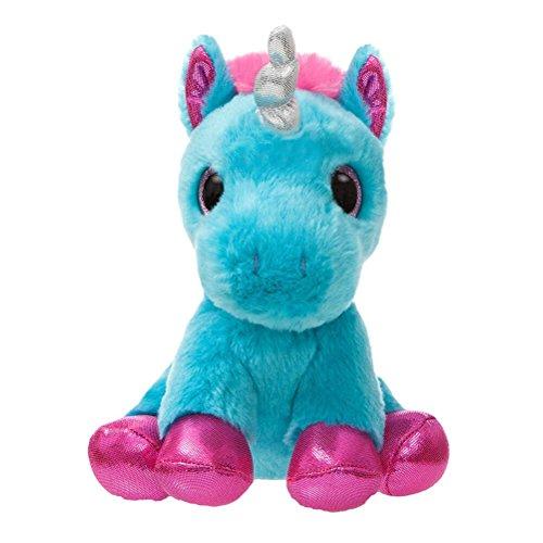 Aurora 60860 Sparkle Tales Moonbeam Unicorn Soft Toy Turquoise 7-Inch