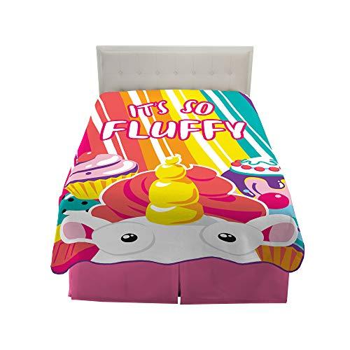Franco Kids Bedding Super Soft Plush Microfiber Blanket TwinFull Size 62 x 90 Fluffy Unicorn