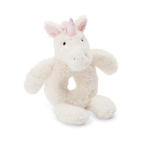 Jellycat Bashful Unicorn Soft Plush Baby Toy Ring Rattle