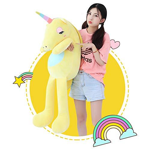 sofipal Giant Stuffed Unicorn ToysSoft Huge Unicorn Plush Pillow Pony Doll Gifts for Kids BirthdayValentinesChristmas Yellow 551