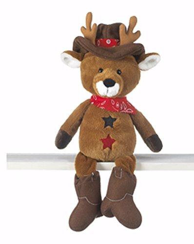 Western Cowboy Reindeer Plush Toy - By Ganz