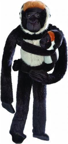 Gorilla with Baby Habika and Salim Wild Republic Plush Hanging Monkeys