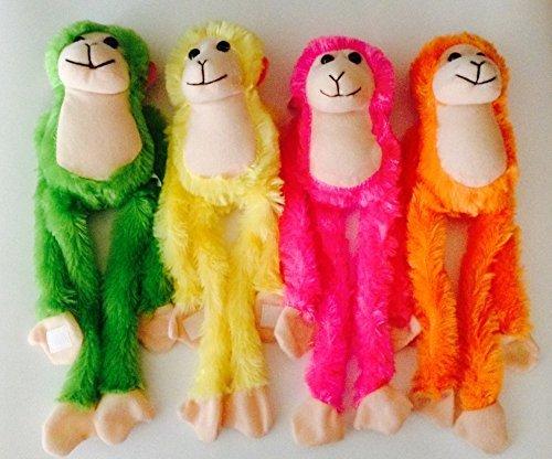 Set of 4 - 13 Plush Hanging Monkeys with Velcro Hands