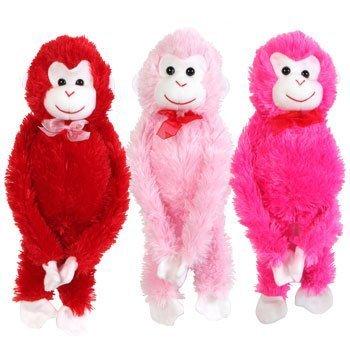 Valentines Plush Hanging Monkey 17 by Greenbrier