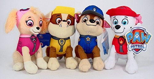 Paw Patrol Plush Pup Pal 4 Pcs Character Plush Set Marshall Chase Rubble Skye 8 Plush Doll