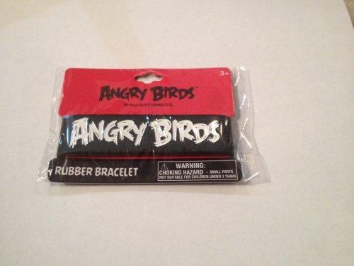 Angry Birds Rubber Bracelet - Black