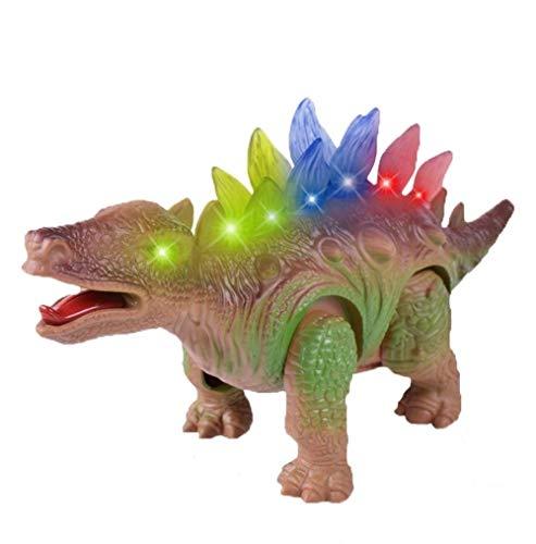 iTao Walking Dinosaur Toys for Kids Jurassic Electric Dinosaur Toys Battery Operated Moving Dinosaur Toys with Flashing Sounds Stegosaurus