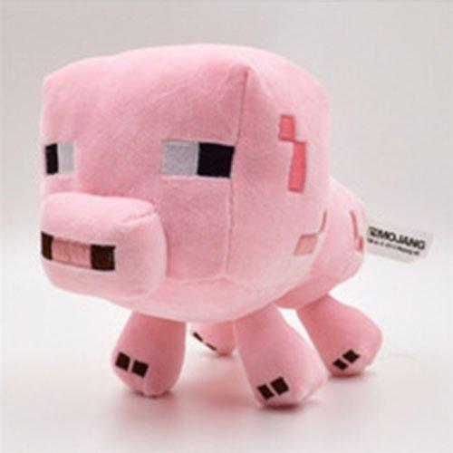 1 pcs Hot Sale 15cm Minecraft toys Minecraft plush Toys dolls stuffed Enderman Baby Mooshroom Pig Squid Ocelot plush toys Pink