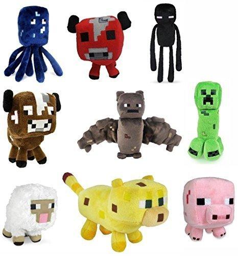 Minecraft Plush Toys Set of 9 Assorted Styles