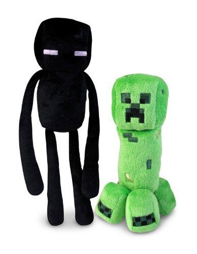 Official Minecraft Overworld 7 Creeper 10 Enderman Plush SET of 2