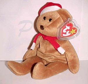 1997 Ty Christmas Teddy Bear Beanie Baby babie