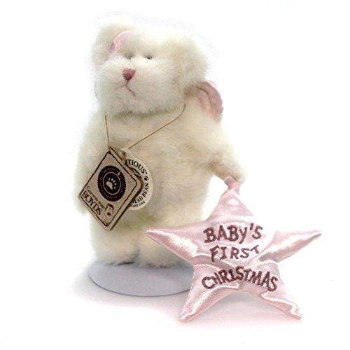 Boyds Bears Plush B ANGELGIRL Fabric Babys First Christmas Teddy 562400
