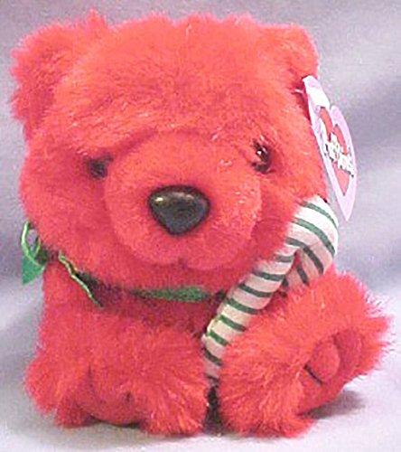 Jangles the Red Christmas Teddy Bear - Puffkins Bean Bag Plush
