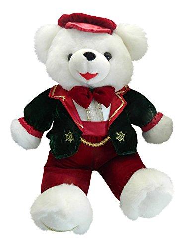 Snowflake Teddy 1998 Boy Christmas Teddy Bear Dressed 21 Plush White bear with clothing