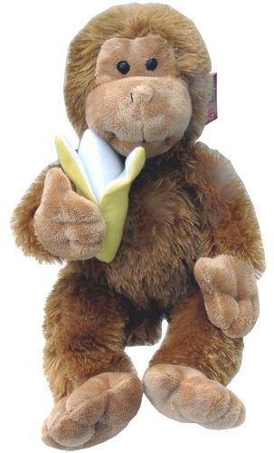 Ganz Plush Toy Monkey with Banana - Brown