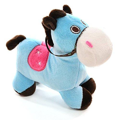 Horse Plush Toy - TOOGOOR1 Pc Cute Pony Soft Plush Toy Filling PP Cotton Creative Cartoon Animal Pillow Blue