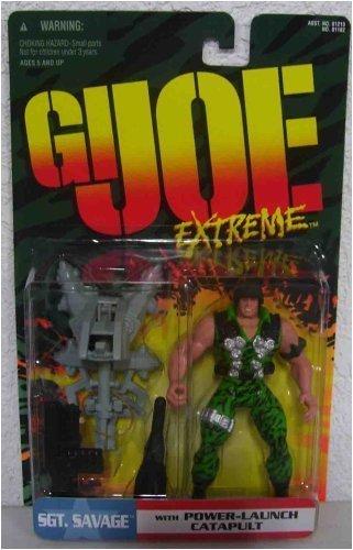 GI Joe Extreme SGT Savage with Power-Launch Catapult by GI Joe